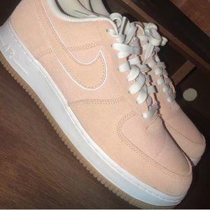 Nike peach air force ones